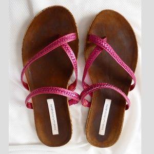 Diane von Furstenberg 6 Adelia Braided Flat Sandal